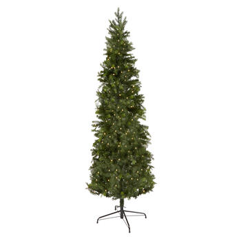7' Pre-Lit Artificial Slim Christmas Tree view 1