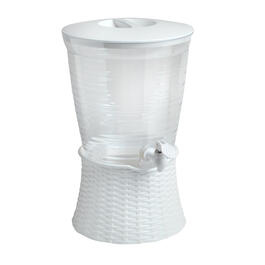 2.5-Gallon Basketweave Beverage Dispenser view 1