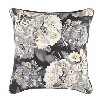 The Grainhouse™ Gray/Black Floral Square Throw Pillow view 1