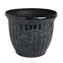 Glazed Planter's Pot with Colored Speckles view 1