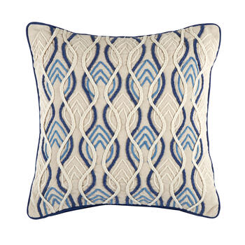 The Grainhouse™ Blue Geo Square Throw Pillow view 1