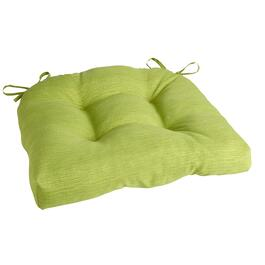 Solid Green Indoor/Outdoor Single-U Seat Pad