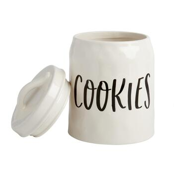 "The Grainhouse™ Cursive ""Cookies"" Canister"