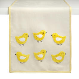 Yellow Chicks Embellished Table Runner view 1