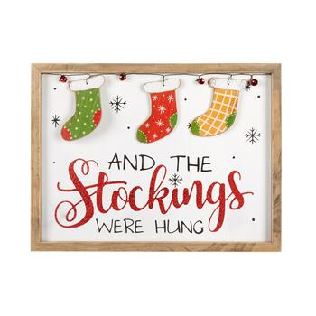 "12""x16"" ""The Stockings Were Hung"" Framed Wall Decor"