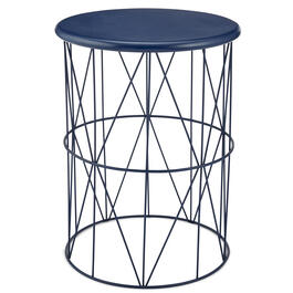 Boys Metal Round Blue Accent Table view 1
