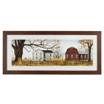 "19""x43"" Scenic House Matted Wall Decor"