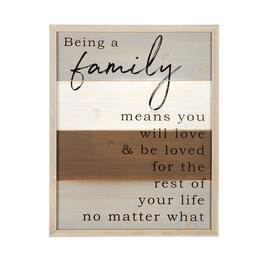 "16""x20"" ""Being a Family"" Wood Pallet Framed Wall Decor view 1"