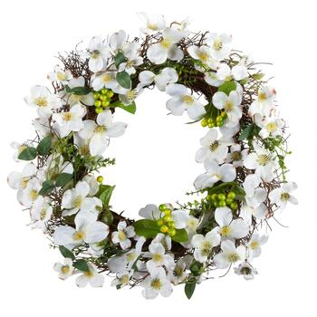 "The Grainhouse™ 24"" Forsythia & Dogwood Wreath"