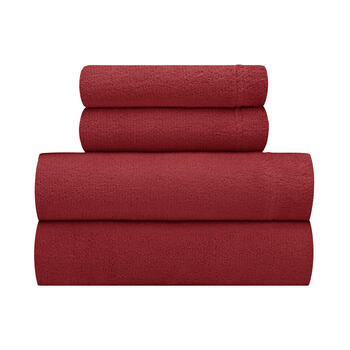 Flannel Rooster™ Solid Velvety Plush Sheet Set view 1