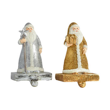 Gold Glitter Santa Stocking Holder view 1