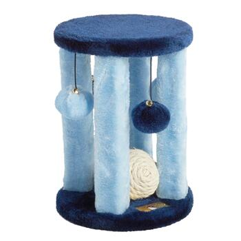 "11"" Fleece Cat Tower with Toys"