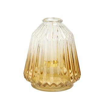"11"" Glass Lantern Candle Holder"