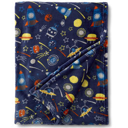 "50"" x 70"" Boys Outer Space Throw Blanket view 1"