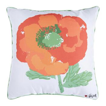 Vera® Orange Flower Indoor/Outdoor Square Throw Pillow