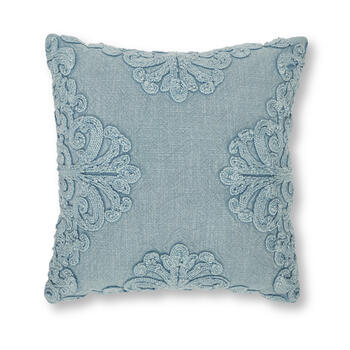 Petal and Stone™ Embroidered Wash Blue Throw Pillow view 1
