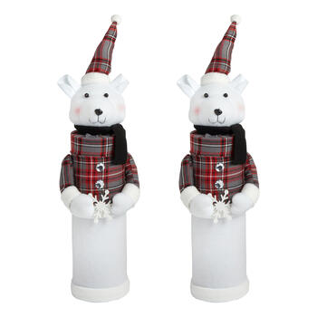 Plaid Polar Bear with Snowflake Gift Tubes, Set of 2 view 1
