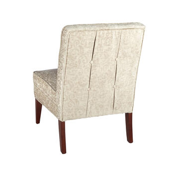 Silver Tufted Slipper Chair view 2