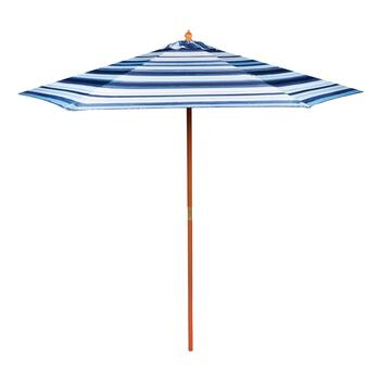 Coastal Living Seascapes™ 9' Blue Stripe Market Patio Umbrella
