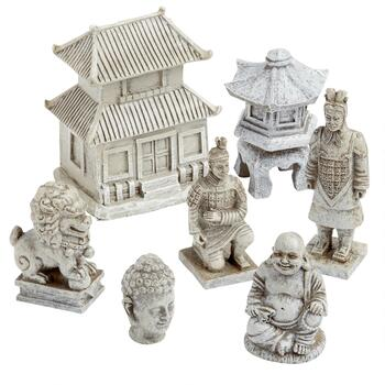 Asian-Inspired Pagoda Miniature Set, 7-Piece