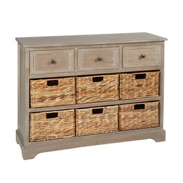 Hannah Antiqued 6-Basket/3-Drawer Apothecary Cabinet view 1