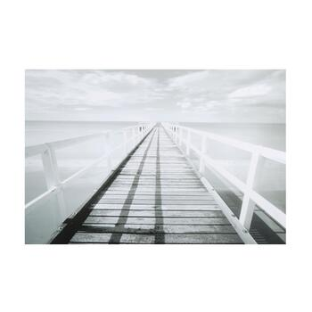 "24""x36"" Black/White Walkway Canvas Wall Art"
