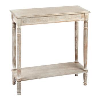 big sale 10d51 487c1 White Antique Rectangular Console Table with Shelf