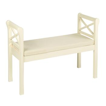 White Wood X-Side Bench