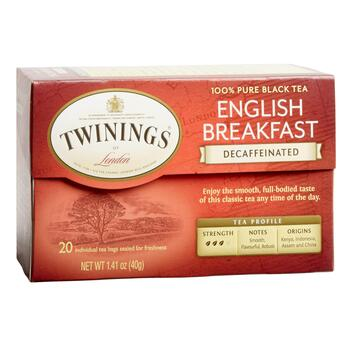 Twinings® English Breakfast Decaf Black Tea, 6 Boxes