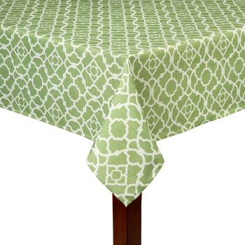 Waverly® Green Lattice Printed Tablecloth