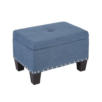 Kent Tufted Storage Ottoman with Nailhead Accents view 3