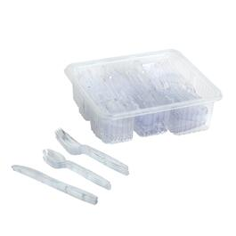 Premium Diamond Plastic Cutlery, 192-Piece