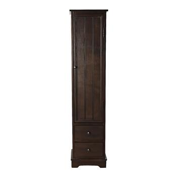 Walnut Pantry Closet with Door and Drawers
