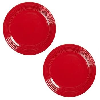 Bistro Brights Red Dinner Plates, Set of 2