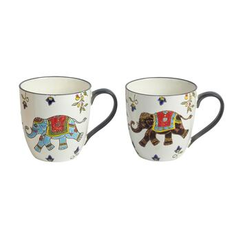 18-oz. Elephant Mugs, Set of 2