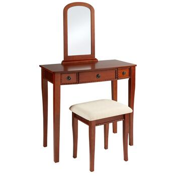 Molly Cherry Wood Vanity with Bench
