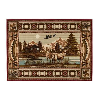 5'x7' Lodge Landscape Area Rug