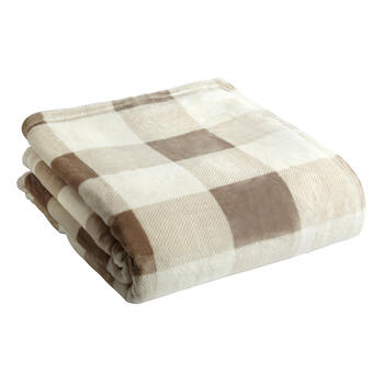 London Fog® Checkered Throw Blanket view 1