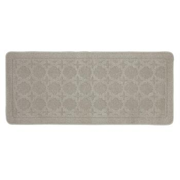Gray Circles Textured Accent Rug