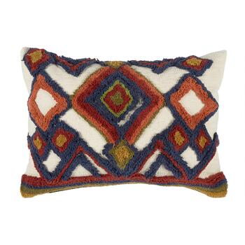 "The Grainhouse™ 16""x24"" Multicolored Tufted Geo Oblong Throw Pillow"