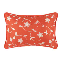 Waverly® Orange Floral Indoor/Outdoor Oblong Throw Pillow view 1