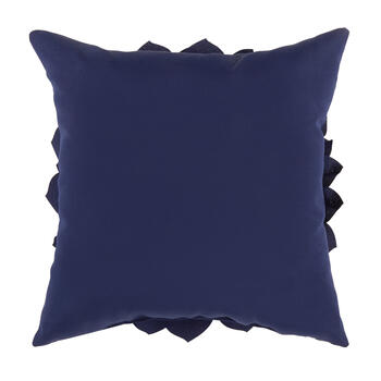 Blue Flower 3D Indoor/Outdoor Square Throw Pillow view 2