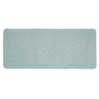 Light Blue Hexagon Textured Accent Rug