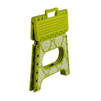 Green Scroll Folding Step Stool view 2