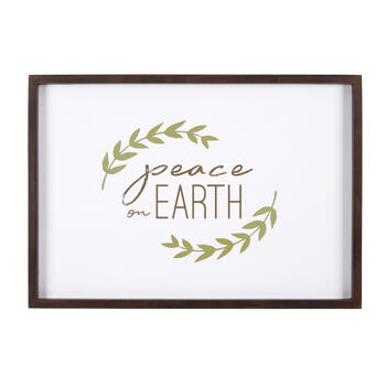 "19""x27"" ""Peace on Earth"" Wreath Wall Decor view 1"
