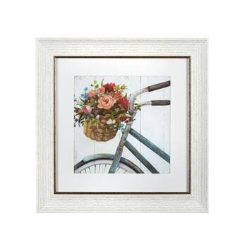 "12"" Bicycle Flower Basket Wall Decor"