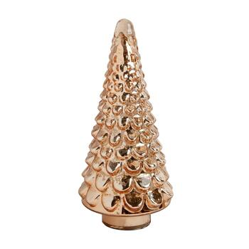 "12.5"" Rose Gold Glass Tree Decor"