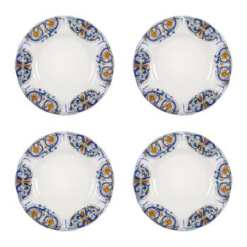 Tuscan Scroll Dinner Plates, Set of 4