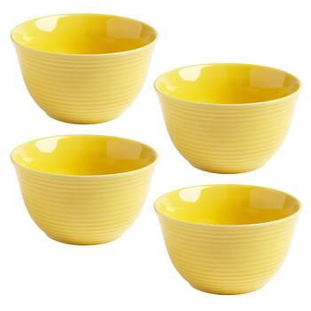 Bistro Basics Solid Yellow Cereal Bowls, Set of 4