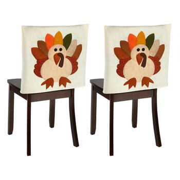 Tremendous Thanksgiving Turkey Chair Covers Set Of 2 Gmtry Best Dining Table And Chair Ideas Images Gmtryco